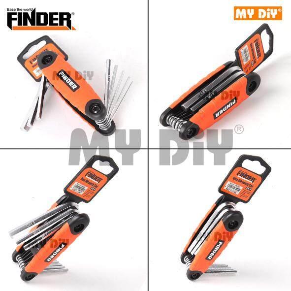 MYDIYBANDARPUCHONGJAYA - Finder Flat Head HEX 8pcs CRV Folding Set / HEX Key Set / HEX Wrench Set / Allen Key Set