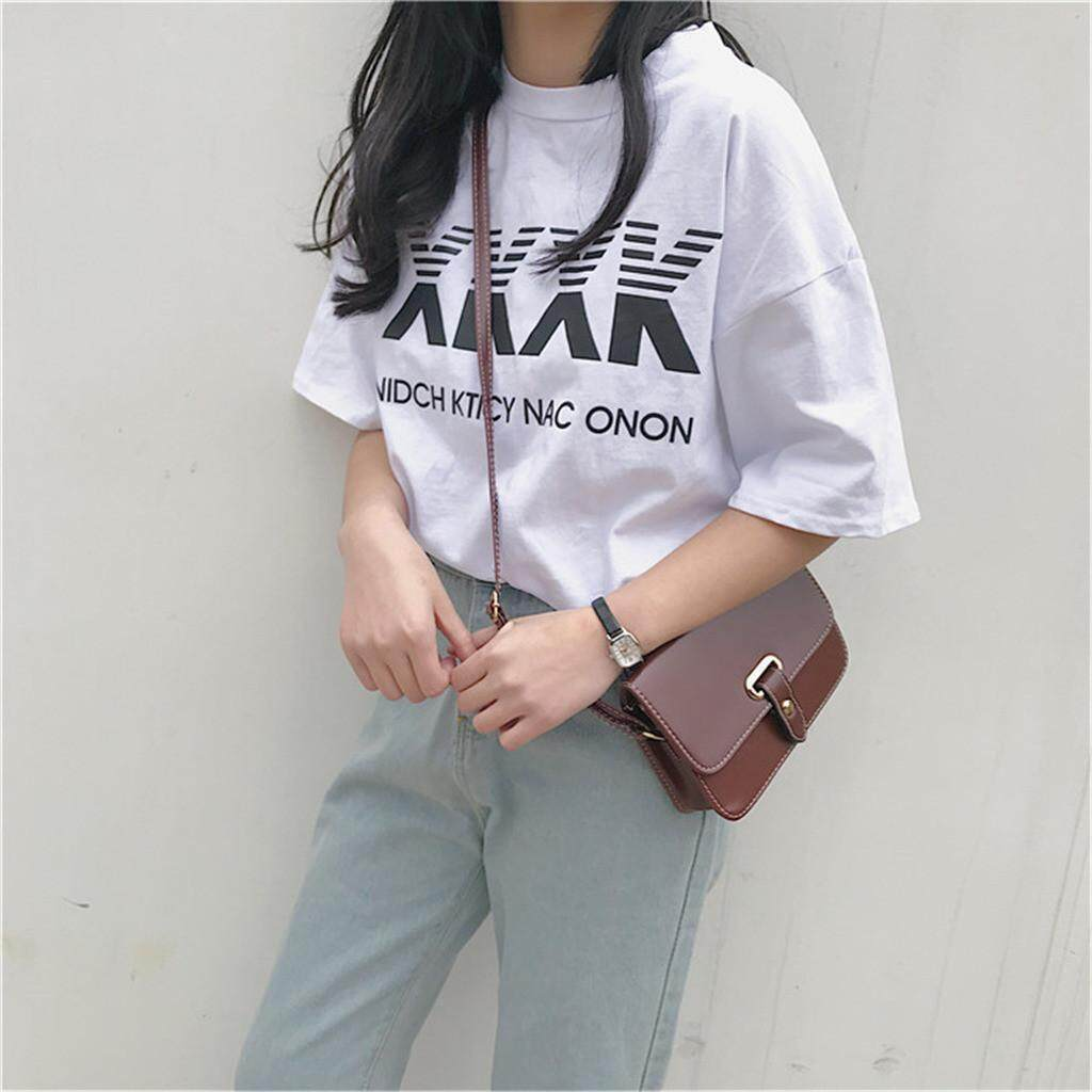 1f2ca3dc29cb Naponie Free shipping Oversize BF Fashion Women Short-sleeved XXXK Letter  Printing T-shirt