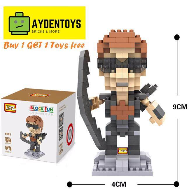 Loz Iblock Toys Heroes Nano Bricks Marvel Avengers Hawkeye 9523 By Aydentoys.com.
