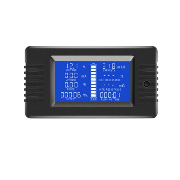 Giá DC Voltmeter Ammeter LCD Display Digital Wattmeter Multimeter Tester Meter Monitor (with 200A Shunt)