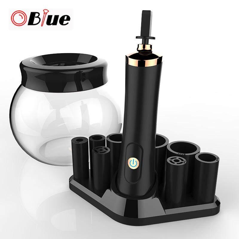 OBlue Điện Cọ Trang Điểm Tự Động Rửa Máy Sấy Máy Đựng Mỹ Phẩm Rửa Dụng Cụ Đen tốt nhất
