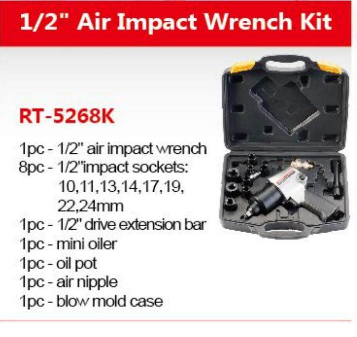 1/2 680Nm 28MM RT-5268K ROTAKE AIR PNEUMATIC IMPACT WRENCH WITH ACCESSORY