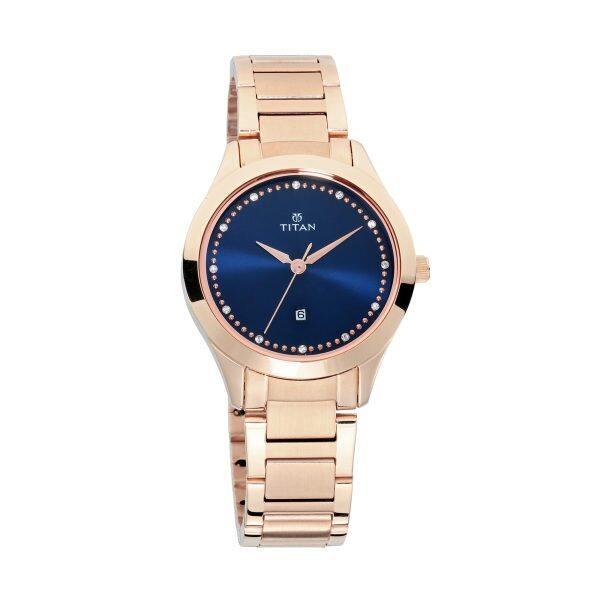 Titan Sparkle Blue Dial Stainless Steel Strap Watch for Women 2570WM05 Malaysia