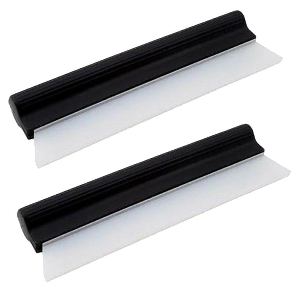Bonjoy 2pcs Glass Cleaning Scrapers Multi-Function Cleaning Care Blade Household Glass Clean Wiper Scraper.