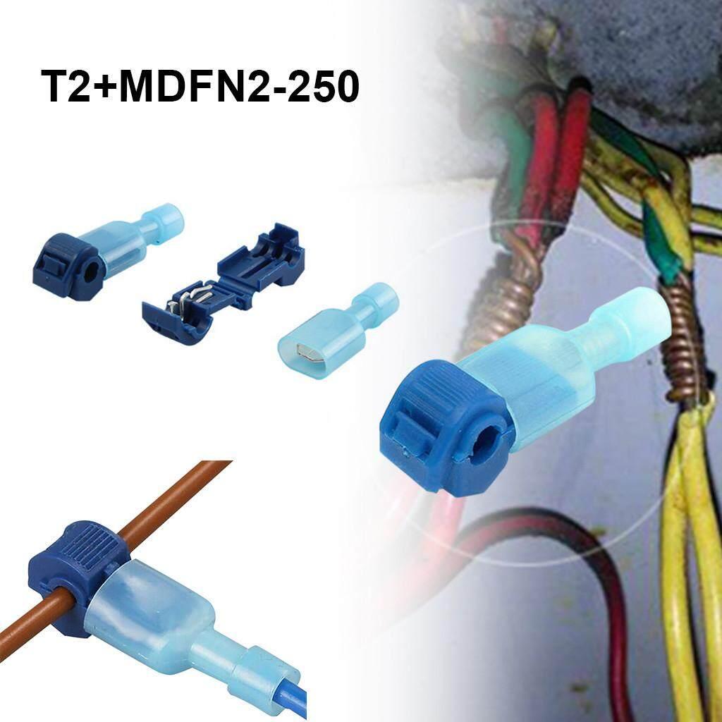 Abbottstore 40pcs Quick Lock Splice Wire Connector Terminal Crimp Clip Car Wiring Cable Kit