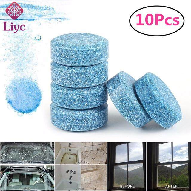 Liyc 10/20/50pcs Multifunctional Effervescent Spray Cleaner Home Kitchen Cleaning Car Windshield Glass Detergent,Wiper Concentrate Effervescent Spray Cleaner