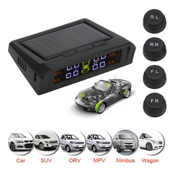 Công cụ cảnh báo tự động sạc USB hoặc năng lượng mặt trời hệ thống cảnh báo an ninh tự động TPMS hệ thống cảnh báo áp suất lốp xe hơi màn hình LCD kỹ thuật số HD cảnh báo áp suất lốp