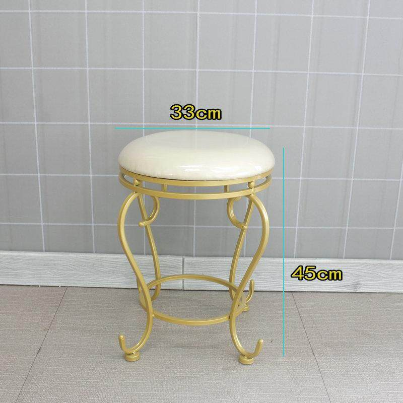 RuYiYu - 33x45cm, Vanity Stool, Golden Bronze Color, Dressing table chair, Bow Wrought Iron Chair, Dining Chair Bar Chair Backrest Chair Home Girl Room Dresser Makeup Chair