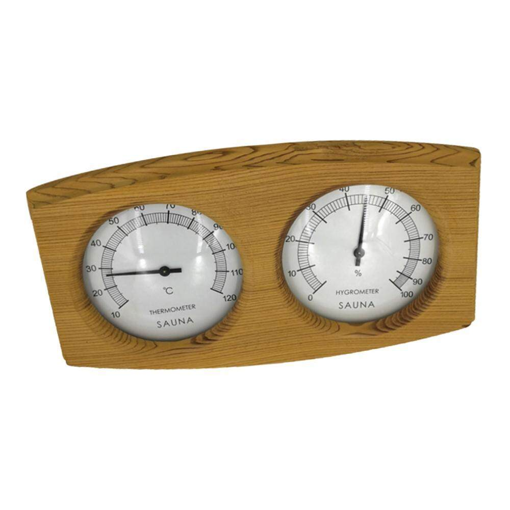 MagiDeal 2 in 1 Wooden Hygrothermograph Thermometer Hygrometer Sauna Room Accessory