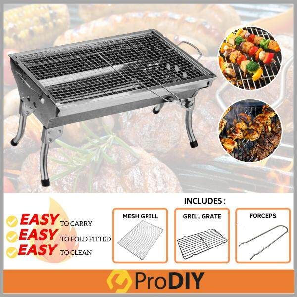 8802 Stainless Steel Portable Camping Outdoor Barbecue Barbeque BBQ Grill