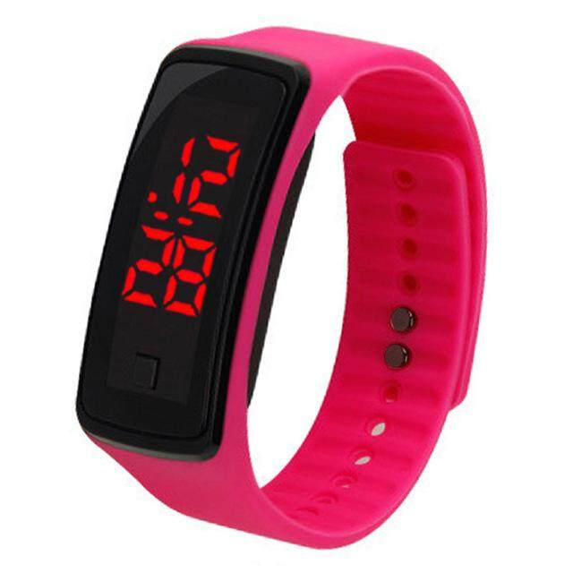TEEMI Men Women Kids Unisex Candy Color Jelly LED Touch Bracelet Digital Sports Watch Casual Bracelet Silicon Wrist Band Malaysia