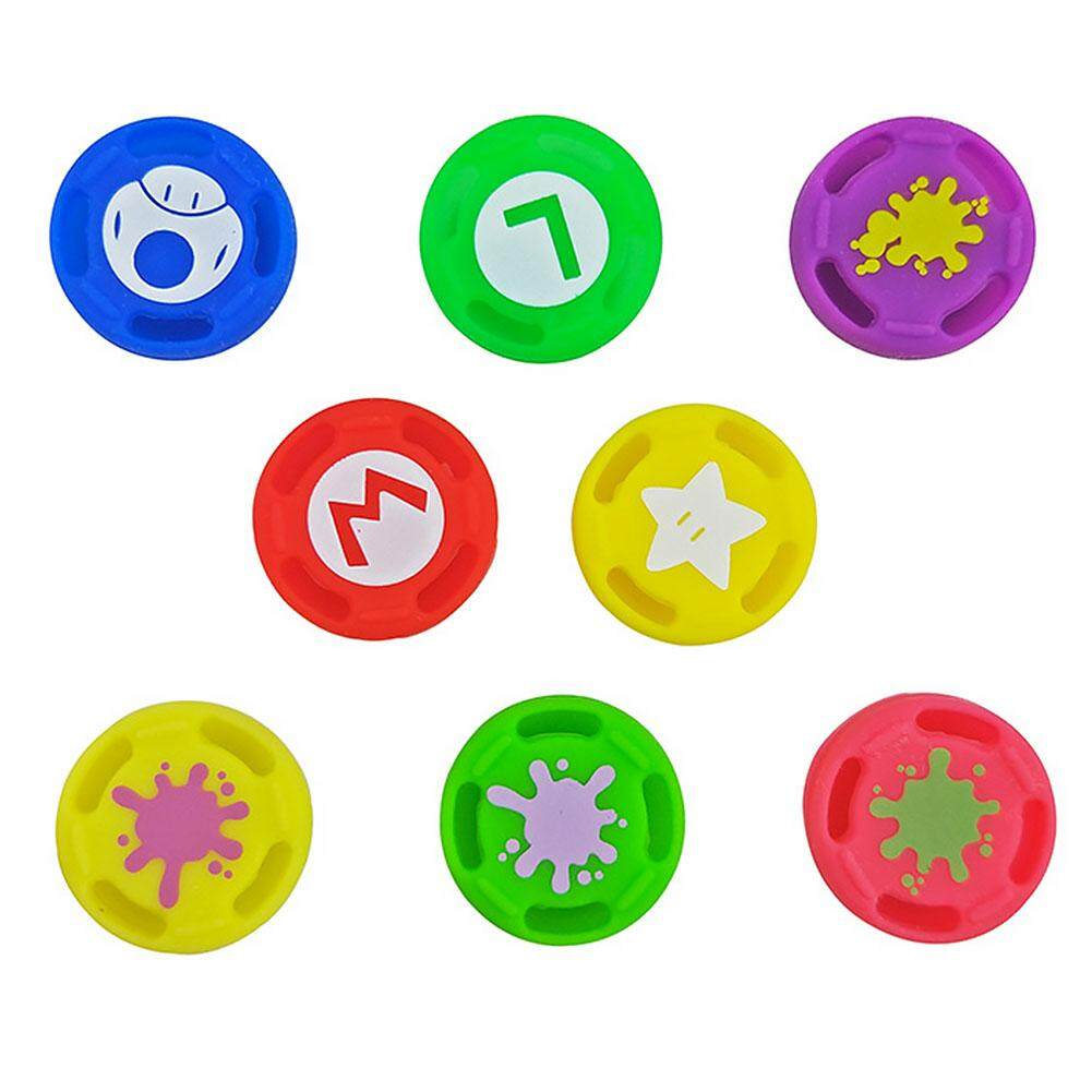 Giá 8 Chiếc Thay Thế Silicone Với Bao Ngón Tay Cái Nắm Tay Cầm Chơi Game Cần Chơi Game Cao Cấp Extra Cải Tiến Nhiều Màu Nút Joystick Nắp Chống trượt Nắp Bảo Vệ Bộ Điều Khiển