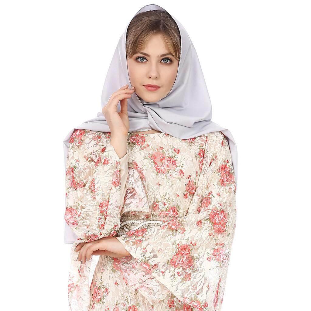 Luci Muslim Women Traditional Retro Pure Color Turban Hat Head Scarf Wrap Summer