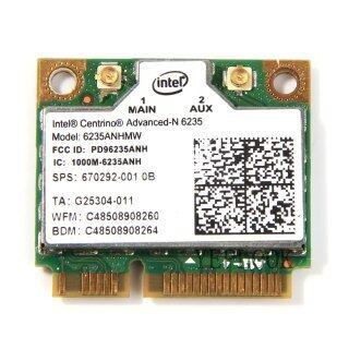 6235 6235ANHMW 6235AN 300Mbps Băng Tần Kép 2.4G 5Ghz Bluetooth 4.0 Mini PCI-E Card Lan Không Dây Intel Centrino Advanced-N 05K9GJ thumbnail