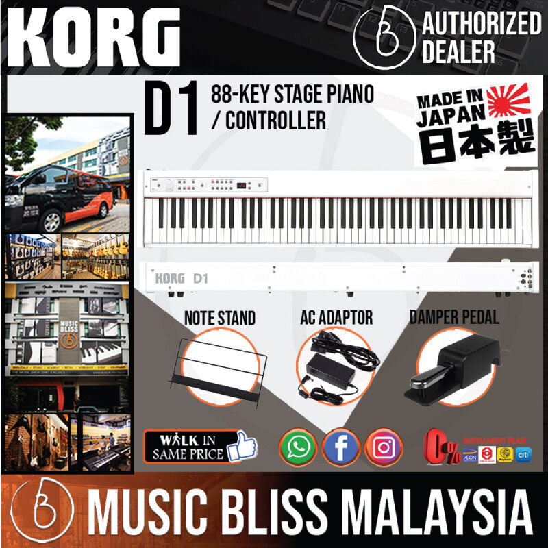 Korg D1 88-key Stage Piano / Controller - White with 0% Instalment (D-1) Malaysia