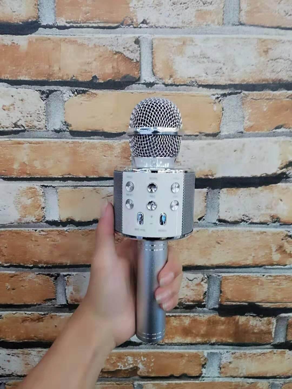 WS858 Microphone Wireless KTV Karaoke Bluetooth Handheld Mic HIFI Speaker 858 q7