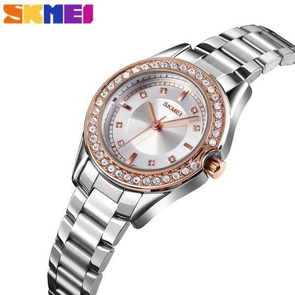 SKMEI Women Fashion Casual Watches Quartz Simple Stainless Steel Elegant Waterproof Watch For Women 1534 Malaysia