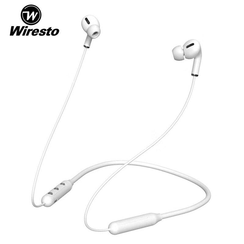 Wiresto TWS Dual Sports Wireless Earphone Earbuds Bluetooth Earphone Stereo In-ear Headphone with Mic Neckband Magnet Design For Xiaomi Huawei Singapore