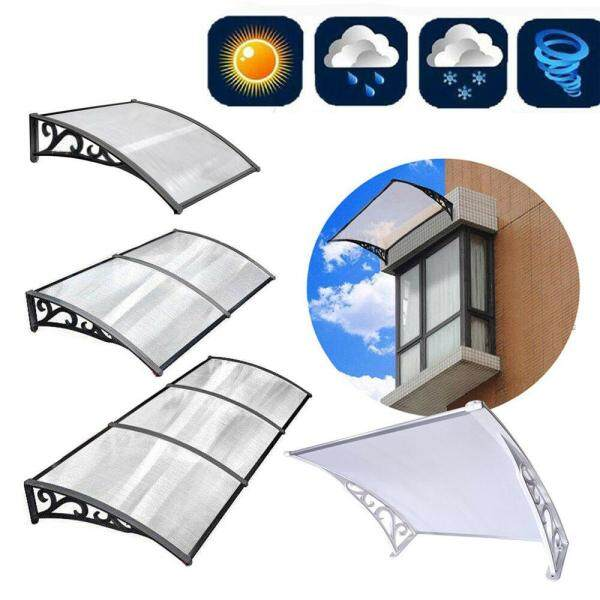 [Fast delivery]   Awning 120X75 Door Canopy Awning Shelter Window Cover Front Back Porch Outdoor Shade Patio Roof