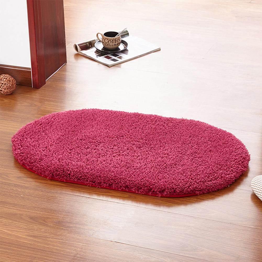 Ys 50X80 Cm Bantalan Anti Jatuh Lembut Kamar Karpet Oval Salon Keset Lantai untuk Tempat Tidur