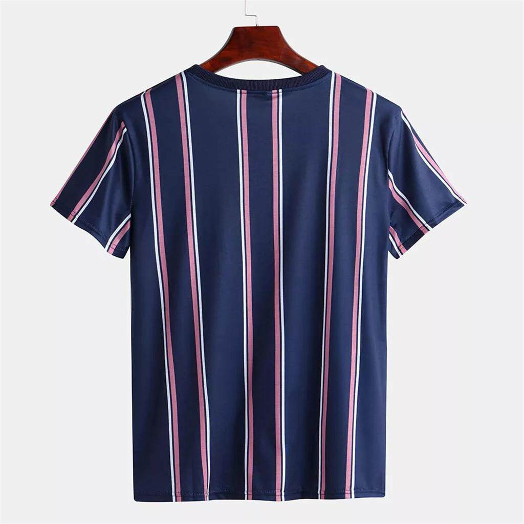 9121f5a30f39 {Pop Goes The Weasel} Men Summer Fashion T-Shirts Casual Striped Shirts  Short