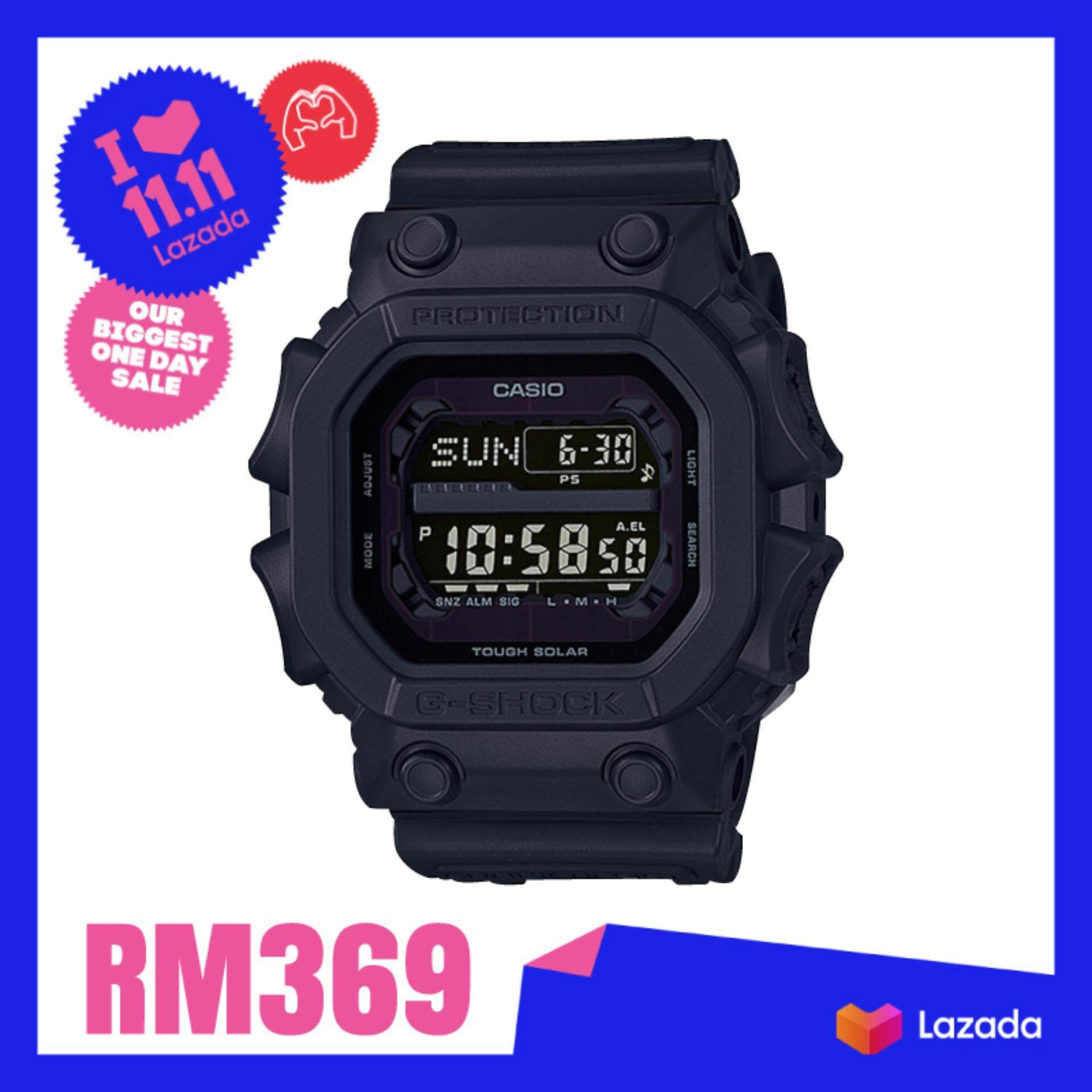 [100% Original G SHOCK]Casio G-Shock Black Out Series Black Resin Band Watch GX56BB-1D GX-56BB-1D GX-56BB-1 (watch for man / jam tangan lelaki / casio watch for men / casio watch / men watch / watch for men) Malaysia
