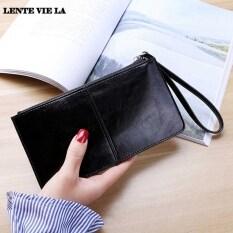 Lente Vie La thời trang 2020 mới nữ PU Ví dài nữ dây kéo ví Hàn Quốc dung lượng lớn ly hợp điện thoại di động Túi đeo tay