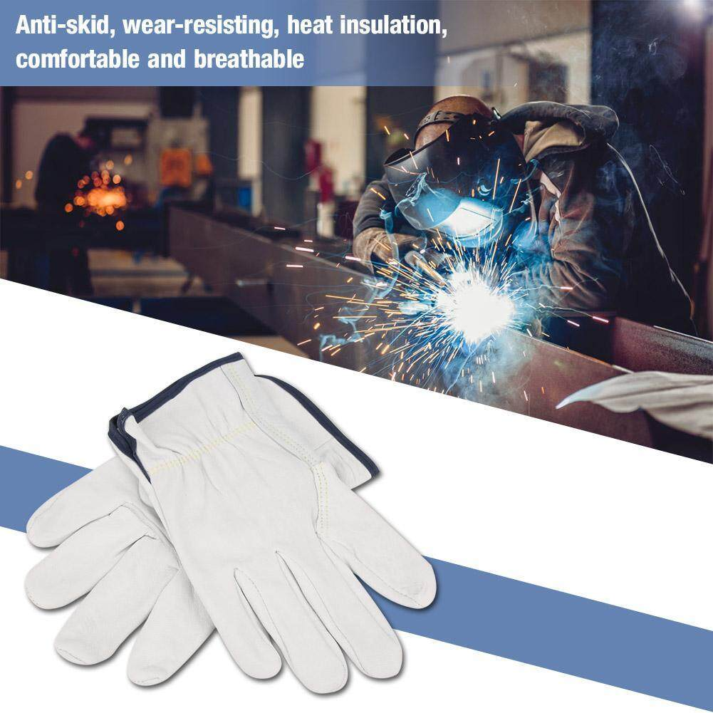 Super Soft Fire Resistant Grain Sheepskin gloves TIG Welding Glove