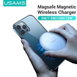 Sạc Nhanh Nam Châm Không Dây USAMS 15W, Sạc Nhanh Magsafe Siêu Mỏng Cho iPhone 12 12 12Pro Max HUAWEI Samsung XIAOMI thumbnail