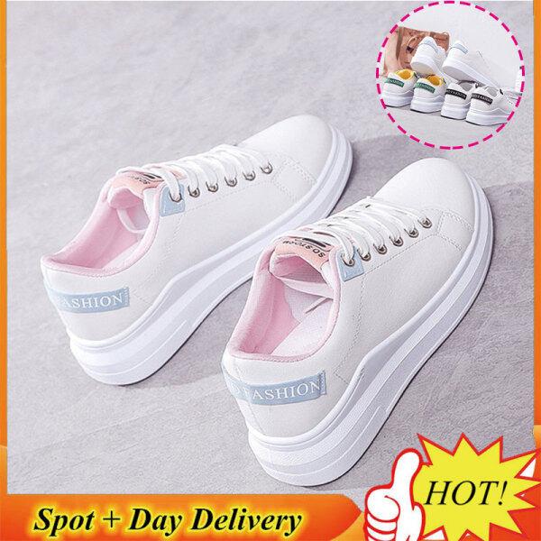 ST Giày trắng đế bằng cỡ nhỏ dành cho nữ, có nhiều màu sắc và kích thước để lựa chọn - INTL