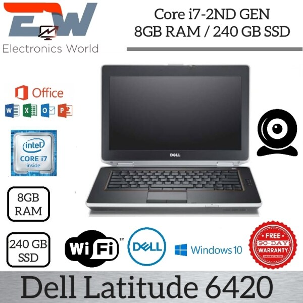 Dell LATITUDE 6420 i7-2ND GEN / 8GB RAM / 240GB SSD / MS OFFICE / WIFI / WEBCAM / TOP BUSINESS LAPTOP / (USED IN NICE CONDITION) 3 MONTHS WARRANTY Malaysia