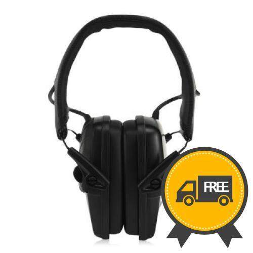 Tactical Headset Anti-Noise Foldable Earmuff Microphone For Shooting Hunting (black) By Nuaque Store.