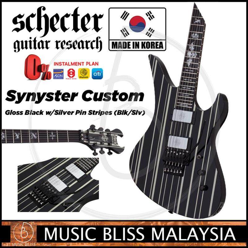 Schecter Synyster Custom - Gloss Black w/Silver Pin Stripes (MIK) Malaysia