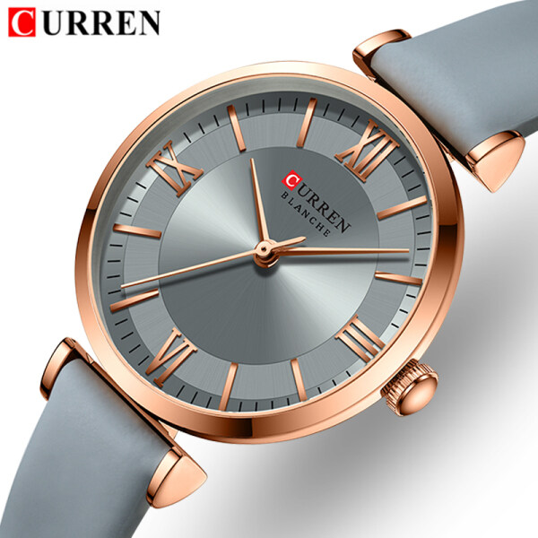 CURREN Top Brand Womens Fashion Simple And Generous Style Watch Quartz Leather Sports Watches Waterproof Casual Womens Watches Malaysia