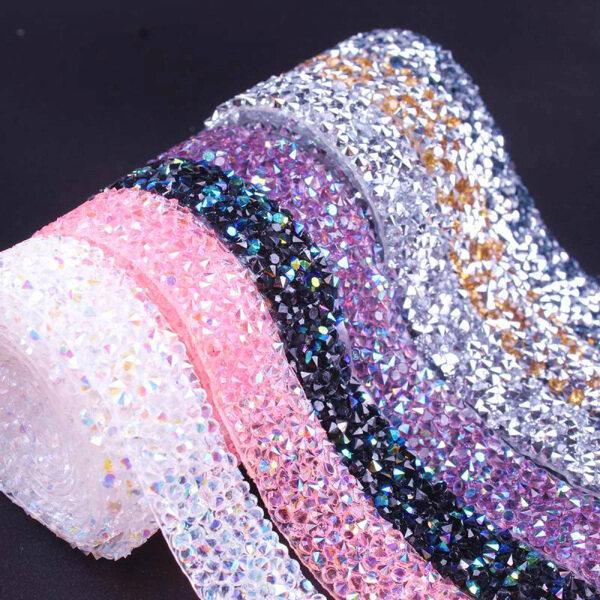 Mua 1 * May Quần Áo Nhiều Màu Nhựa Nhựa Trên Váy Túi Giày Giày Appliques Ribbon BĂNG BĂNG Pha Lê Họa Tiết Trang Trí May Mặc