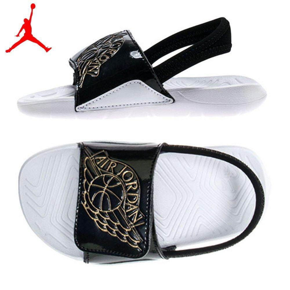 Nike Jordan Hydro 7 (td) Aa2519-021 Baby Sandal Black/metallic Gold/white Slide Boys Toddler Sandal By Usa Outlet.