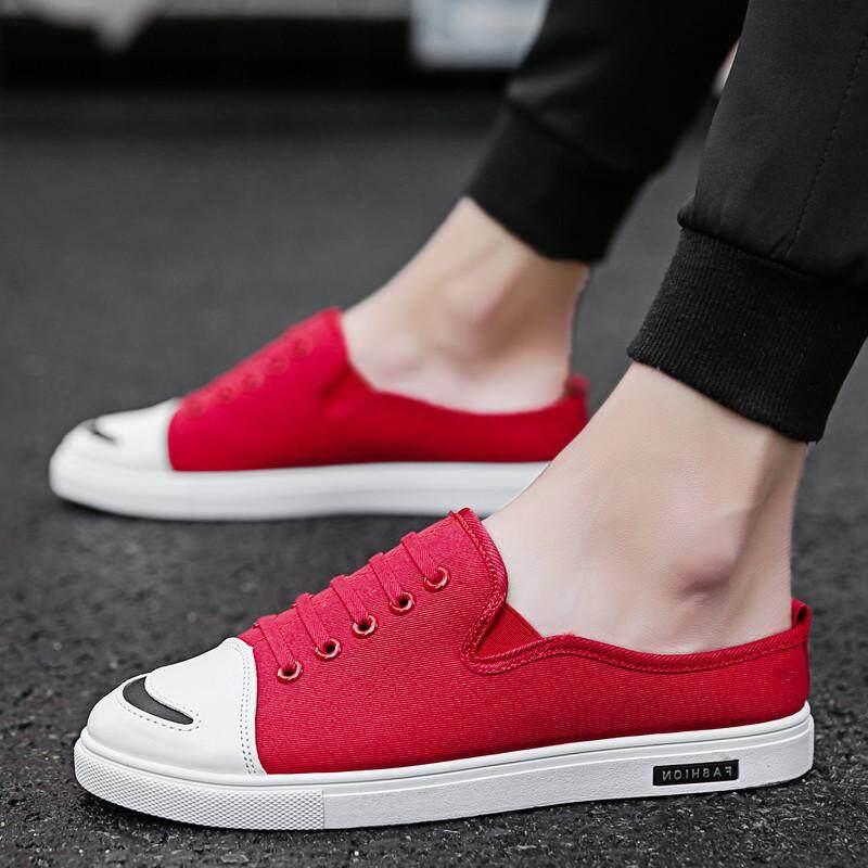 1c4a596a5e27 HKS HELLO Hot Sale Men Summer Casual Slipper Sprint Canvas Loafers Shoes  Male Slides Half Toe