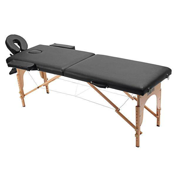【Free Shipping+Big Sale】 58-82cm Adjustable Portable Fold Case Carry 3 Pad 73Massage Bed Tattoo Bed Spa Facial Massage Table Black