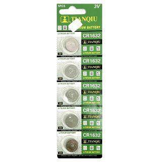 TIANQIU Lithium Cell CR1632 3V Button Battery (5 Pieces) ED: 2023