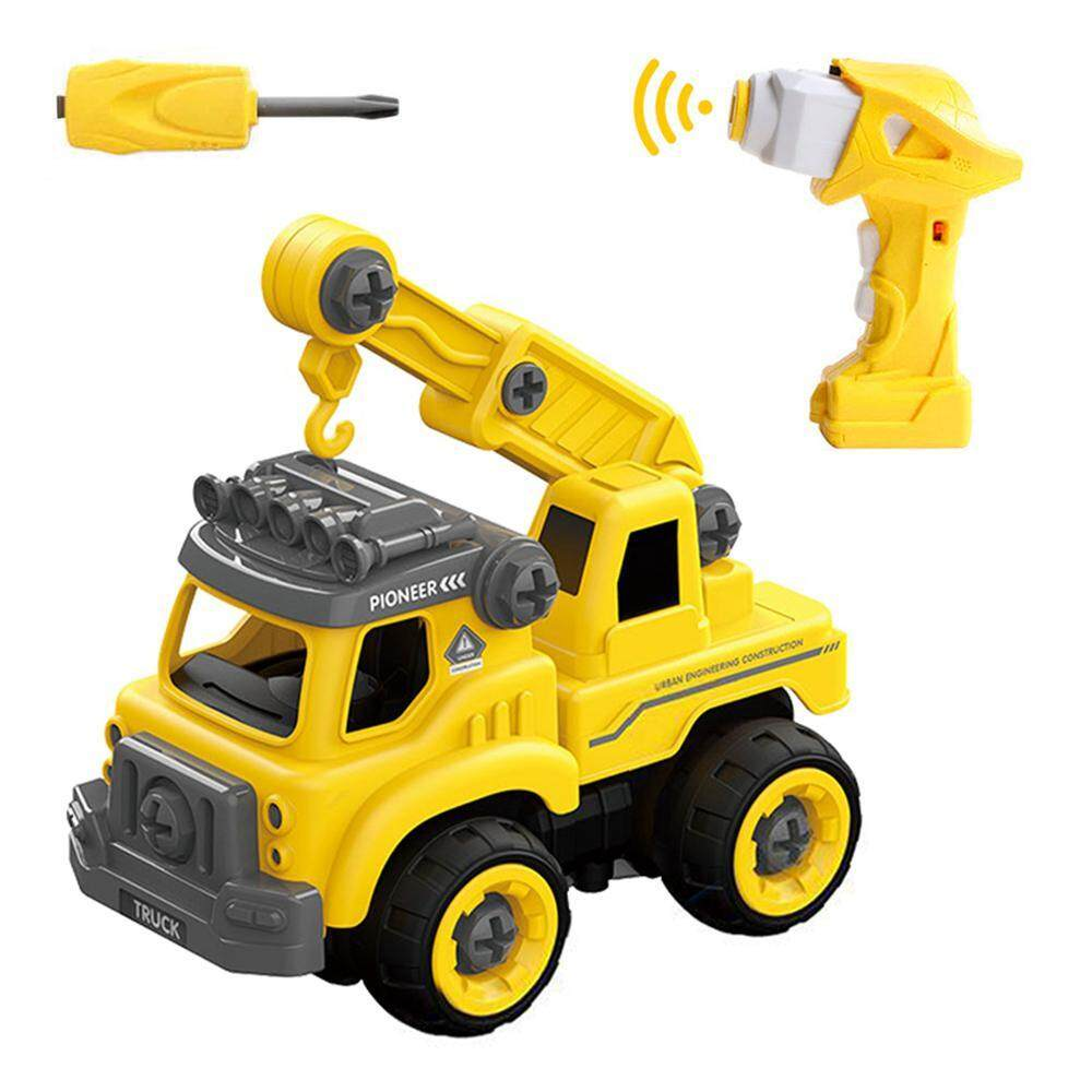 Umiwe Excavator Toy,take Apart Toys Remote Truck Assembly Toy Bulldozer Constructions Building Vehicles Play Set With Electric Rc Screwdriver Educational Toys For Children 3 -14 Years Old By Umiwe.