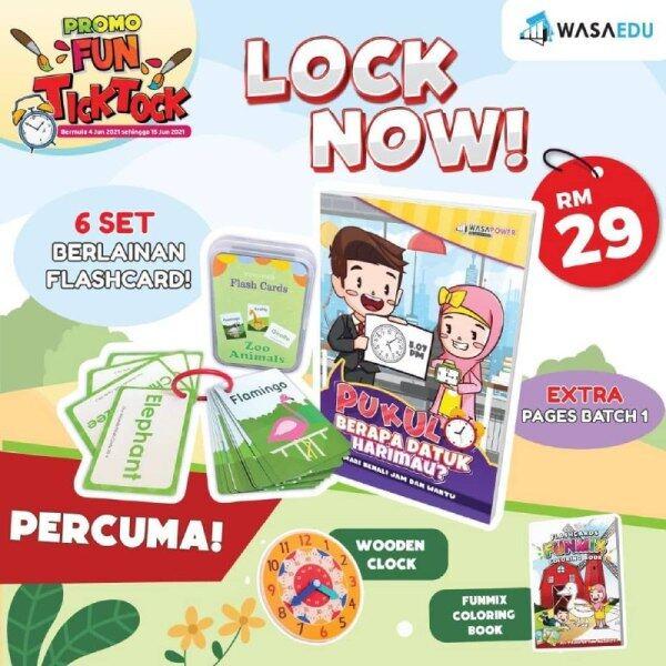 FUN TICK TOCK Kombo Buku Jam Pukul Berapa Datuk Harimau Dan Flash Kad Malaysia