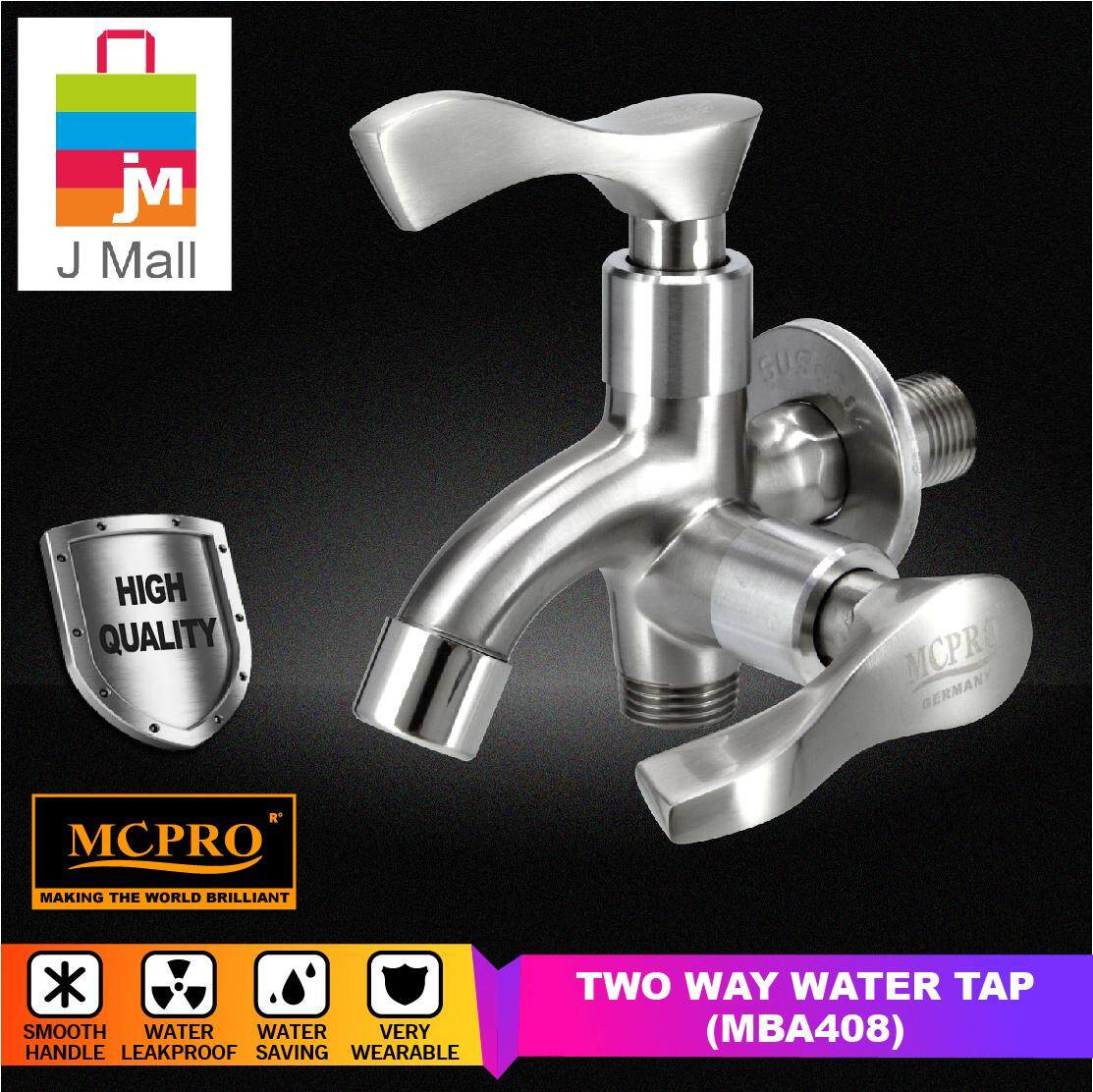 MCPRO SATIN FINISH WALL BATHROOM FAUCET TWO WAY TAP (MBA408)