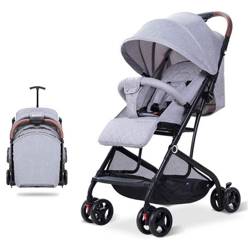 AG-Tech Easy to Storage Baby Stroller Angle Adjustable Trolley Box Design With Seat Belt Singapore