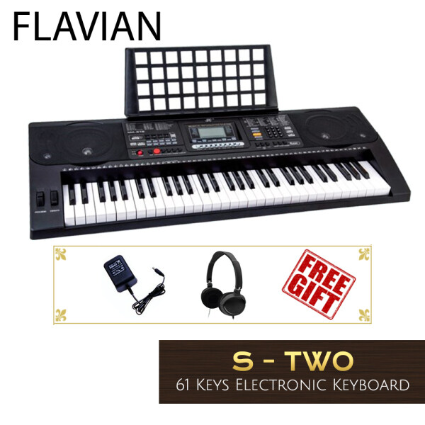 Flavian S-Two S2 / Meike MK812 61 Keys Digital Piano Electronic Keyboard Beginner / Entry Level / Student Portable (Headphone, Music Book Rest, Adapter) MK-812 Malaysia