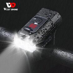 Tây Đi Xe Đạp 350 Lumens Đèn Trước Xe Đạp Đạp Xe Không Thấm Nước Ánh Sáng Có Thể Sạc Qua USB Side Cảnh Báo Đèn Pin 5 Chế Độ Đèn Xe Đạp
