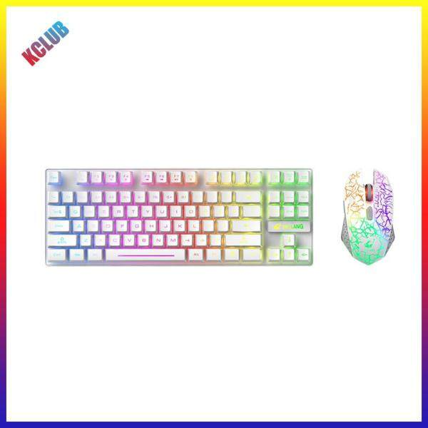 T87 2.4GHz Wireless Rechargeable Colorful Backlight 2400 DPI Keyboard Mouse Singapore