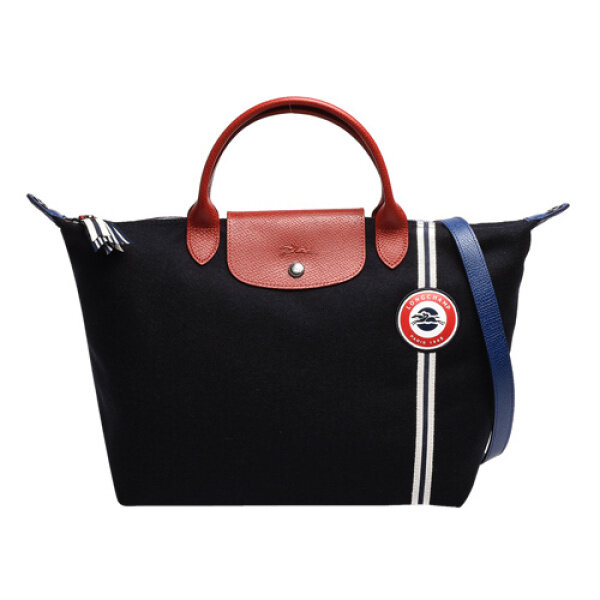 100% Authentic Longchamp_Le Pliage_French Commemorative Crossbody bag_ Limidition Dumpling-shaped female bag _1515596642 Woolen tote Bag_Navy
