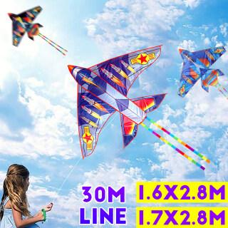 Hai Màu 3D 30M Line Blue Grey Airplane Diều Sports Beach Kids Có Tay Cầm Diều Và Dây Dễ Bay Ngoài Trời thumbnail