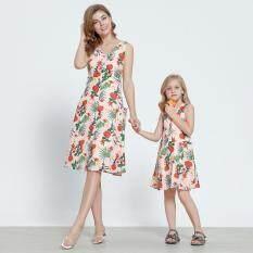 Patpat Hoa Họ Phù Hợp Với Đầm Bỏ Túi Cho Mẹ Hay Con Gái (Chỉ 1 Đầm Trong Bộ Sản Phẩm)