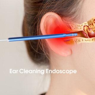 USB Làm Sạch Tai Nội Soi HD Trực Quan Ear Spoon Earpick Với 5.5 Mét Máy Ảnh Borescope Kiểm Tra Earwax Remover Công Cụ Cho Android PC Màu Xanh thumbnail